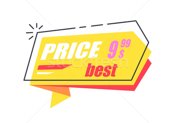 Best Price 9.99 Arrow Sticker Discounts Pointer Stock photo © robuart