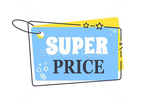 Wspaniały cena promo naklejki placu Zdjęcia stock © robuart
