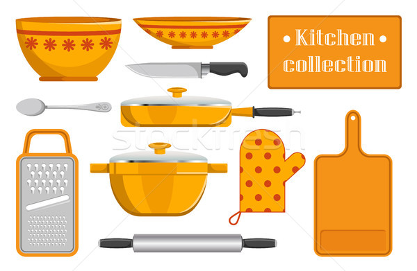 Kitchen Collection Sketches of Kitchen Appliance Stock photo © robuart
