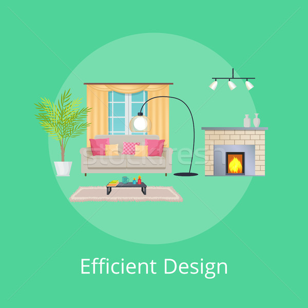 Efficient Design of Room, Vector Illustration Stock photo © robuart