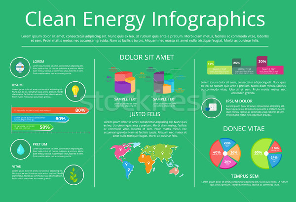 Clean Energy Infographics Vector Illustration Stock photo © robuart