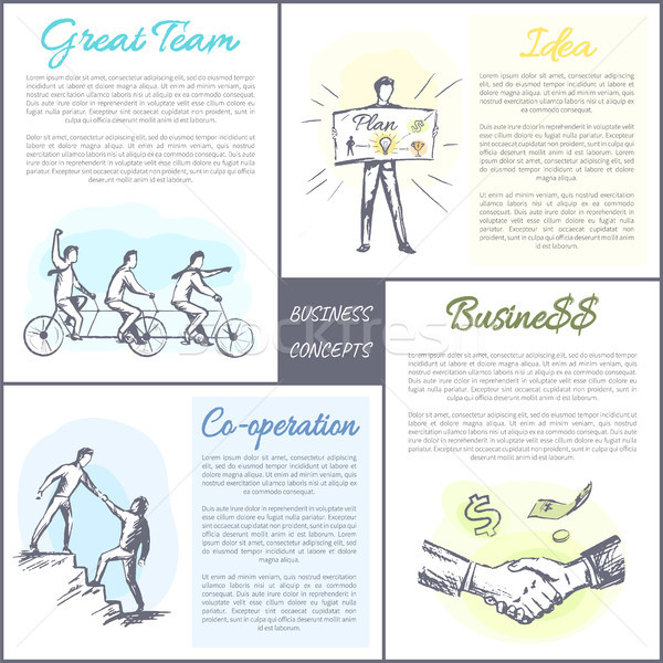 Business Concept Collection Vector Illustration Stock photo © robuart