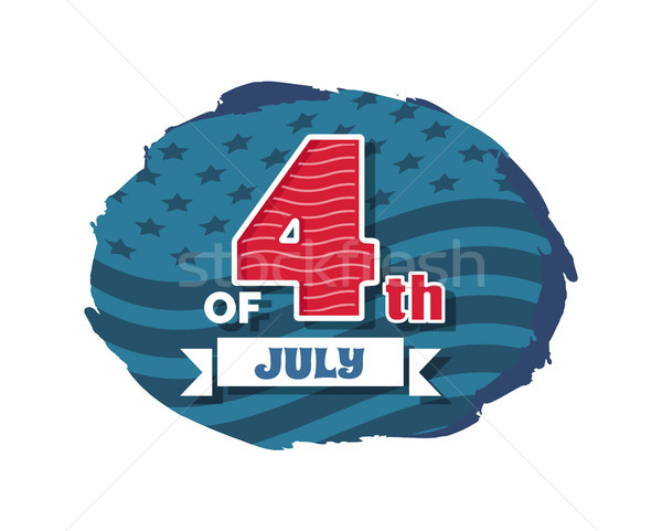 July of 4th Independence, Vector Illustration Stock photo © robuart