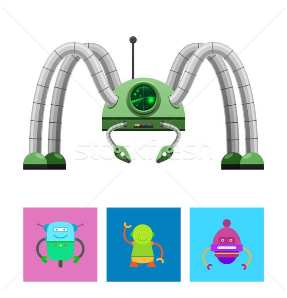 Существа коллекция реалистичный робота радар Сток-фото © robuart