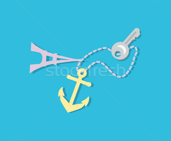 Key Trinket and Souvenirs Set Vector Illustration Stock photo © robuart