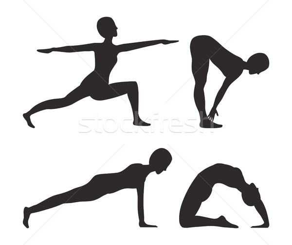 Yoga and Fitness Activities Vector Illustration Stock photo © robuart