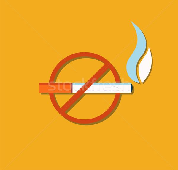 Segno brucia sigaretta vettore non Foto d'archivio © robuart