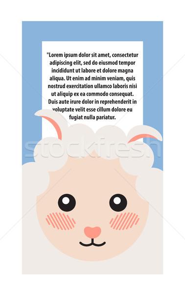 羊 頭 デザイン バナー 文字 ストックフォト © robuart