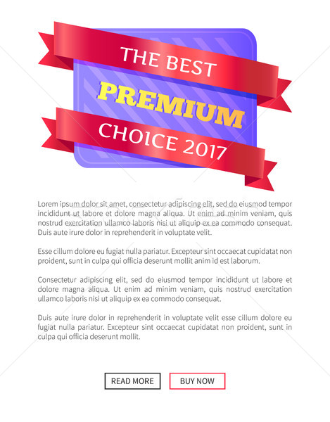 The Best Premium Choice 2017 Emblem Label Vector Stock photo © robuart