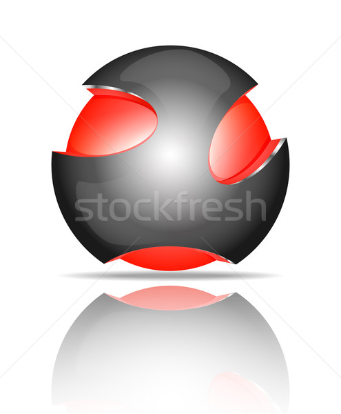 Soyut 3D küre logolar ayarlamak logo Stok fotoğraf © robuart