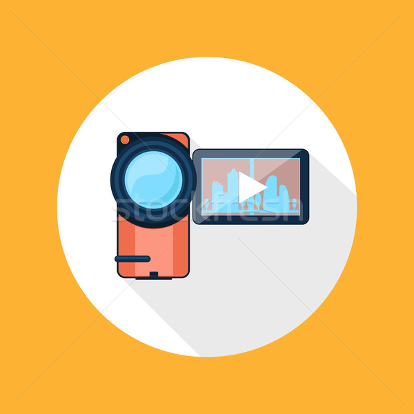 Video camera icon Stock photo © robuart