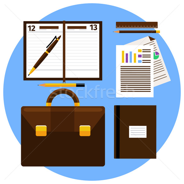 Concept of workplace with briefcase Stock photo © robuart