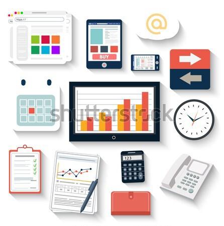 Foto stock: Local · de · trabalho · escritório · negócio · trabalhar · elementos · conjunto
