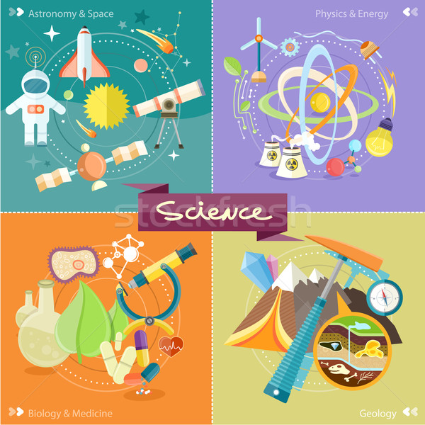Chemistry, physics, biology Stock photo © robuart