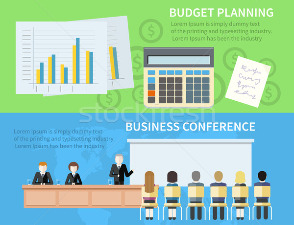 Business conferentie budget planning man presenteren Stockfoto © robuart