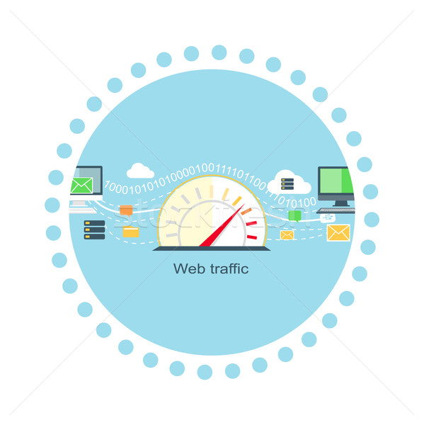 Web Traffic Internet Icon Flat Isolated Stock fotó © robuart