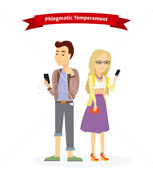 Phlegmatic Temperament Type People Stock photo © robuart