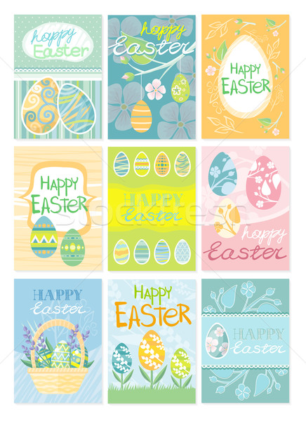 Set of Brochure Flyer Layout Easter Stock photo © robuart