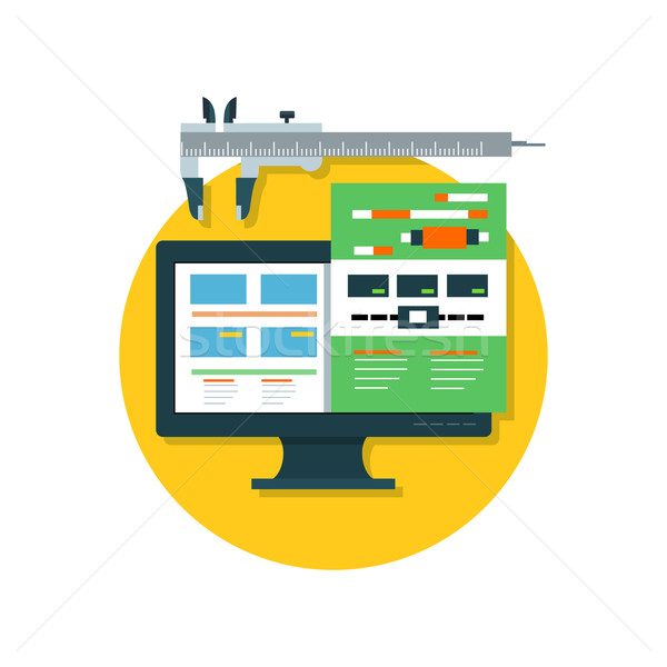 Responsive Design Icon Flat Isolated Stock photo © robuart