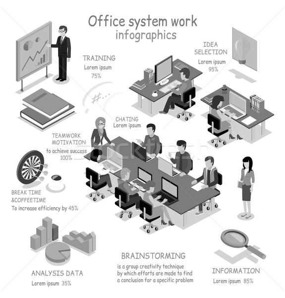 Oficina trabajo infografía 3D interior Foto stock © robuart