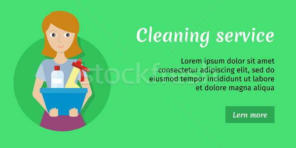 メンバー 洗浄 サービス ガラス クリーナー 女性 ストックフォト © robuart