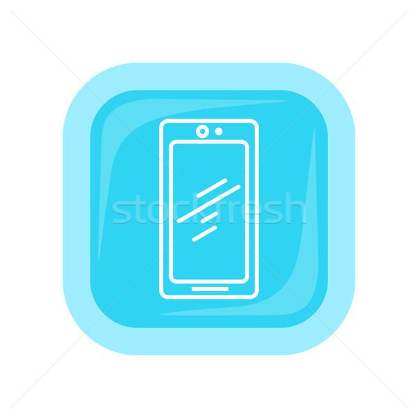 Mobile Phone Icon Isolated. Cellphone Communicator Stock photo © robuart