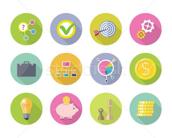 Set of Business Vector Icons in Flat Style Design Stock photo © robuart
