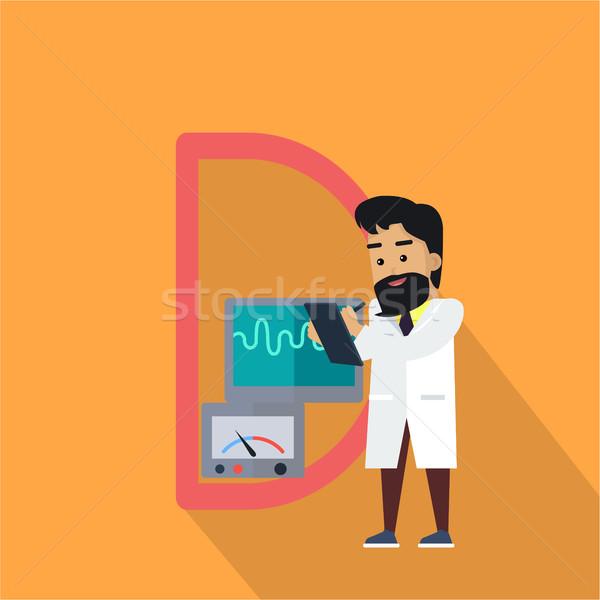 Wetenschap alfabet brief wetenschappers werken Stockfoto © robuart