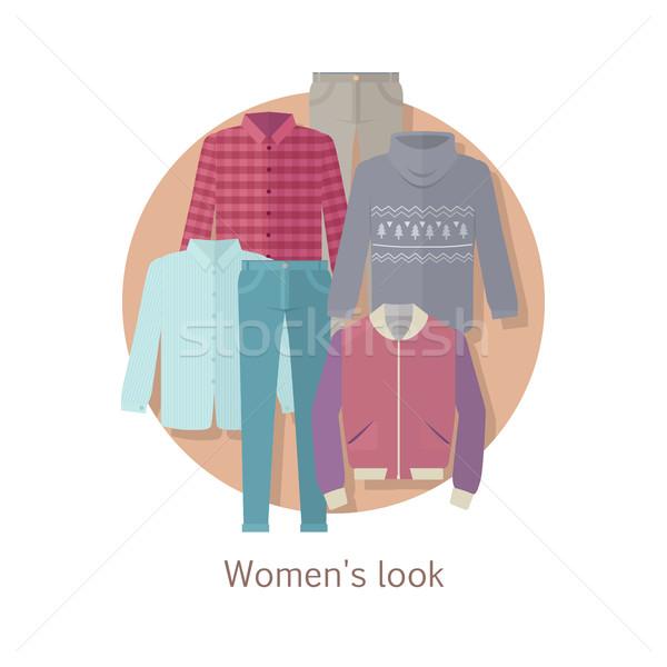 Women s Look Vector Concept in Flat Design Stock photo © robuart