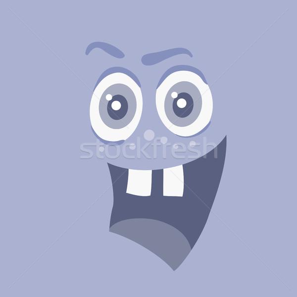 Komik gülen canavar gülümseme bakteriler karakter Stok fotoğraf © robuart