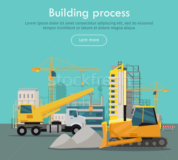 ストックフォト: 建物 · プロセス · ウェブ · バナー · スタイル · 砂