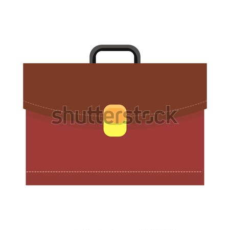 Leather Briefcase Vector Illustration Logo Icon Stock photo © robuart