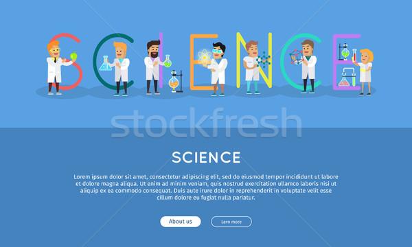 科学 バナー アルファベット ベクトル 科学者 作業 ストックフォト © robuart