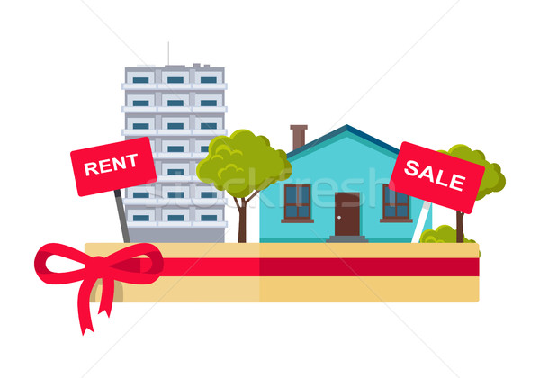 Real Estate Concept Illustration in Flat Design. Stock photo © robuart