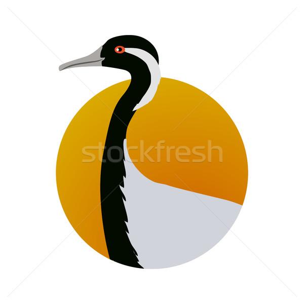 állvány terv vektor víz madarak vadvilág Stock fotó © robuart