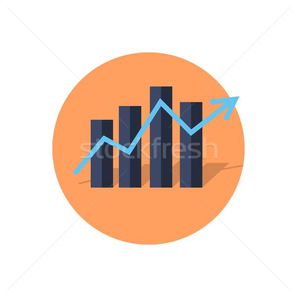 Bar kolom grafieken diagram pijl Stockfoto © robuart