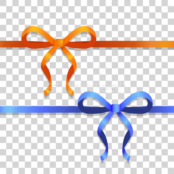 Narancs kék keskeny szalagok fényes íjak Stock fotó © robuart