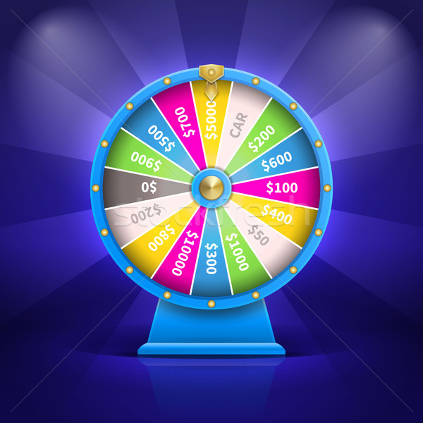 Car and Money Fortune Wheel Vector Illustration Stock photo © robuart