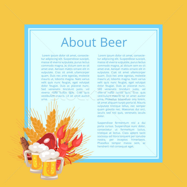About Beer Poster with Text on Light Blue Square Stock photo © robuart