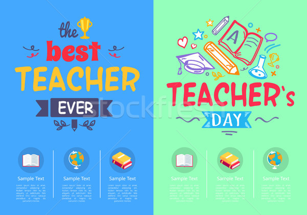 Best Teacher Ever Award on Vector Illustration Stock photo © robuart