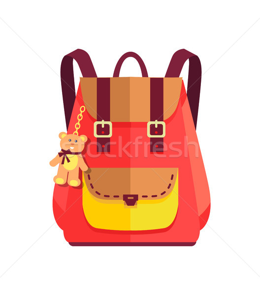 Rucksack for Girl with Cute Teddy Bear, Big Pocket Stock photo © robuart
