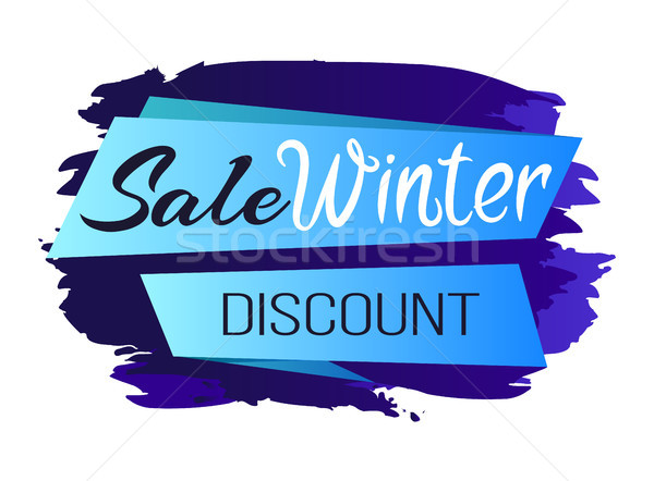 Winter Sale Clearance Icon Vector Illustration Stock photo © robuart