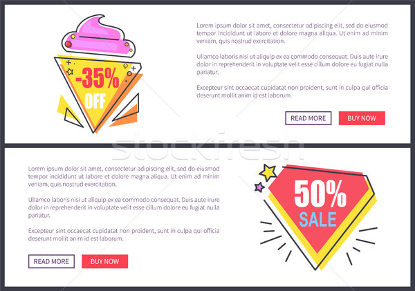 Sale -30 and -50 Off Set Vector Illustration Stock photo © robuart