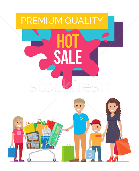 Premium Quality Unique Poster Vector Illustration Stock photo © robuart