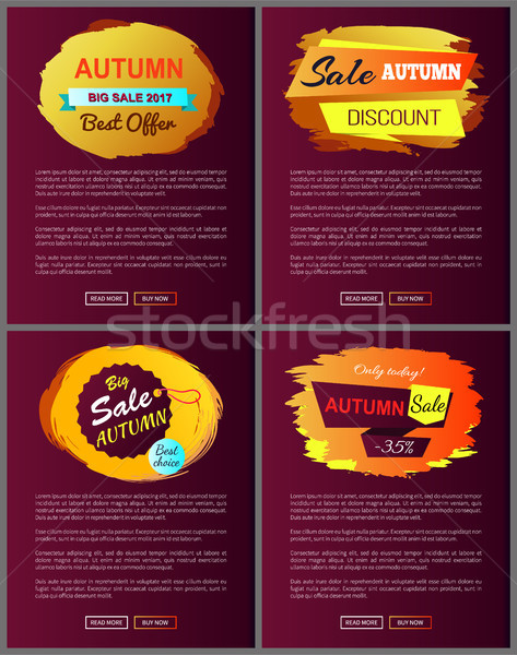 Stock photo: Autumn Sale Best Offer Discounts Big Choice 2017