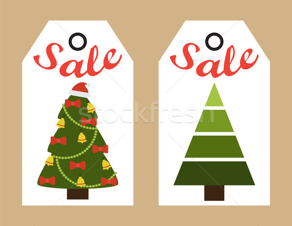 Sale New Year Stickers on Vector Illustration Stock photo © robuart