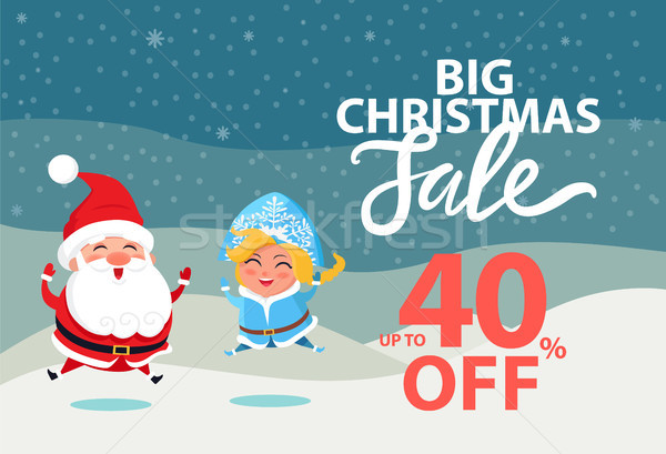 Big Christmas Sale Up to 40 off Wintertime Poster Stock photo © robuart