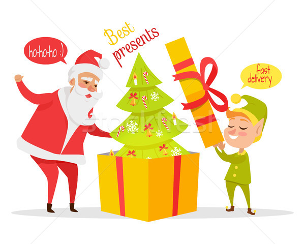 Delivering Christmas Presents Vector Concept  Stock photo © robuart