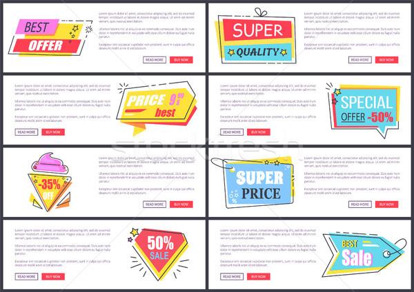 Super Qualität bieten Internet Seiten Stock foto © robuart