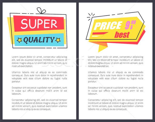 Waren Super Qualität Plakate Werbe- Stock foto © robuart